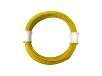Mikrokabel Litze flexibel FEP 0,014mm² gelb 10 Meter Spule Modellbahn Modellbau